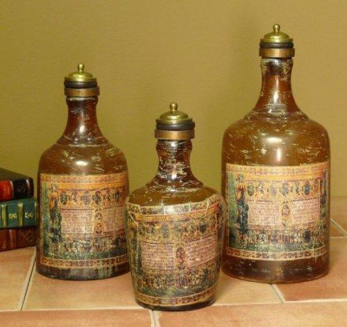 Пример - декупаж бутылок к Новому году