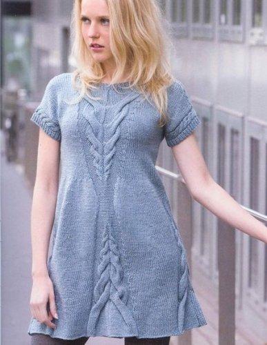 вязанные платья спицами фото со схемами и описанием