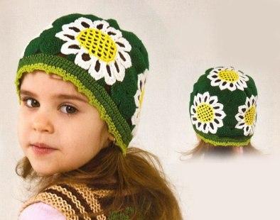 Летние шапочки крючком для девочки