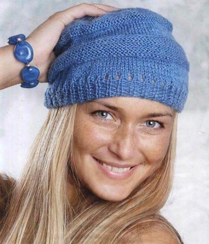 Простое вязание спицами шапок