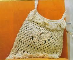 Схемы плетения сумок по макраме.