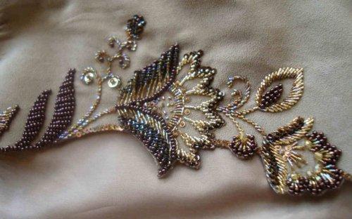 Вышивка на одежде бисером мастер класс