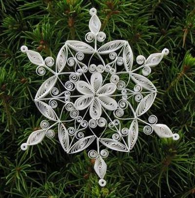 Схемы снежинок из бумаги для