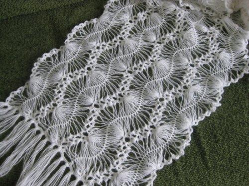 Вязание на вилке. Палантин