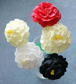 Цветы своими руками материал