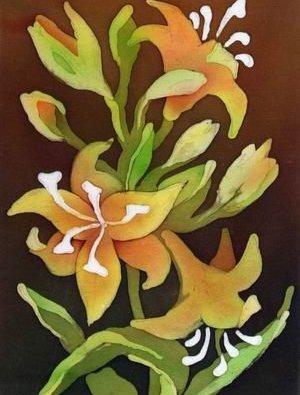 горячий батик на картинках с цветами